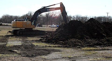 Jones Park USD 420 football field construction.