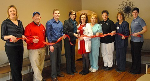 Ribbon cutting for new clinic at Osage City
