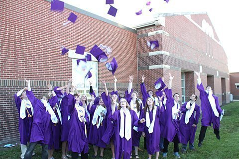 Burlingame High School grads celebrate their final high school achievement.  Photo courtesy of Burlingame High School.