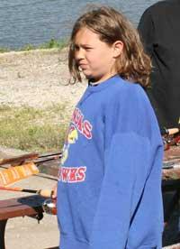 Marissa Landsdown caught the longest perch or sunfish.