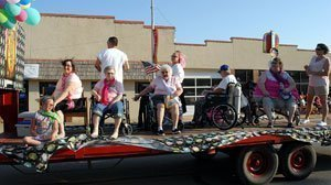 Osage Nursing Center had the second-place float in Osage City's fair parade Thursday.