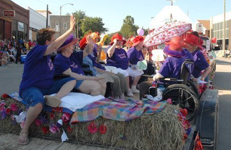 The Brookside Beauties from Brookside Retirement Community won third place in the parade's humor category.
