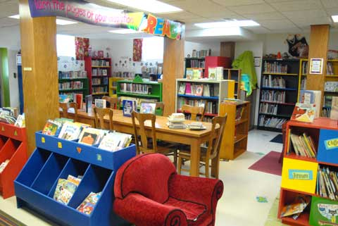 Children's reading room at Lyndon Carnegie Library.