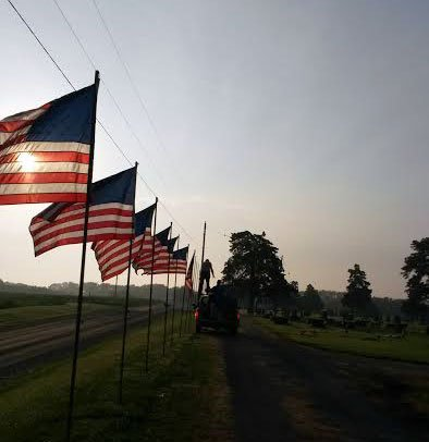 Freedom glows through the avenue of flags at a local cemetery on Memorial Day.
