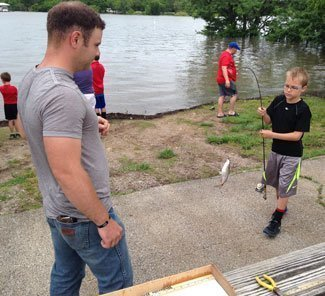 Young fishermen brave flood waters to compete for pomona for Melvern lake fishing report