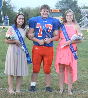 Junior attendant Ploy Chanchaleaw and sophomore attendants Brennan Irey and Josey Weimer.
