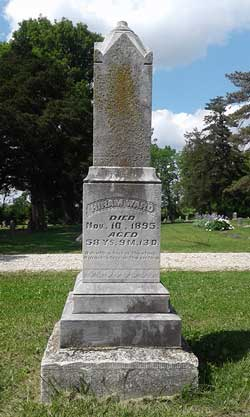 Matthew Waddle made Hiram Ward's stone that is in the Burlingame Cemetery. Osage County history tidbit: Ward was a staunch opponent of the gambling and horse races at the Burlingame Fair. Apparently he got that nixed, but when he died in 1895, it didn't take long for them to get reinstated.