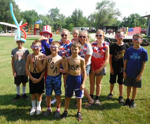 Lyndon Leaders celebrated Fourth of July with the Lyndon community, participating in the patriotic parade.
