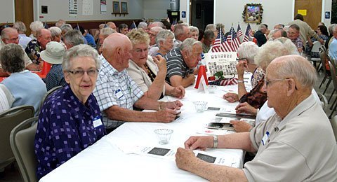 The annual Osage City High School reunion, which honors classes in five-year intervals, had an overflow crowd at the senior center. The class of 2013 was this year's featured class.